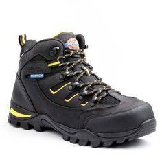 b5af66940d09 Dickies Sierra Men Size 8.5 Black Leather Steel Toe Work Boot