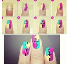 Nail art can sometimes seem complicated when you just see the finished manicure, but once you read through these step by step nail art designs you will realize just how easy it is to do it yourself. Nail Art Diy, Easy Nail Art, Cool Nail Art, Diy Nails, Manicure Ideas, Nail Nail, Manicure Pedicure, Nail Polishes, Love Nails
