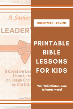 Need quick & easy, fun & creative Bible lesson plans for Advent or Christmas? Check out these 5 printable lessons for kids on the north of Christ! Perfect for your Sunday school class or children's ministry. Click through to find out more!