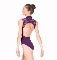 Bal Togs Tank Leotard with Zipper Front and Lace Back Super pretty!!