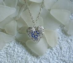 sea glass locket