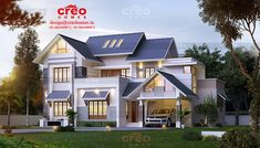 Creo homes , the best construction company is a leader in providing value-added construction services to our customers by creating a successful partnership with them throughout the construction process. Best Modern House Design, Bungalow House Design, House Architecture Styles, Architecture Design, Modern House Facades, Kerala House Design, Kerala Houses, House Elevation, Kochi