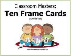 """FREE MATH LESSON - """"Classroom Masters: Ten Frame Cards"""" - Go to The Best of Teacher Entrepreneurs for this and hundreds of free lessons.  Kindergarten - 1st Grade   #FreeLesson  #Math  http://www.thebestofteacherentrepreneurs.net/2014/04/free-math-lesson-classroom-masters-ten.html"""