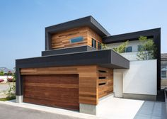 Casas modernas por Architect Show co. Residential Architecture, Contemporary Architecture, Interior Architecture, Japanese Architecture, Online Architecture, Contemporary Houses, Beautiful Architecture, Landscape Architecture, Design Exterior