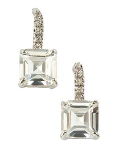 Princess-Cut Drop Earrings by CZ by Kenneth Jay Lane at Last Call by Neiman Marcus.