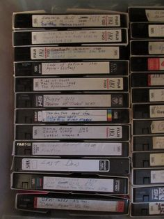 Used Pre-Recorded VHS TAPES LOT OF 42 VHS Tapes/Selling as Blank Tapes #Various