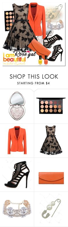 """I#am#beautiful"" by bamra ❤ liked on Polyvore featuring Too Faced Cosmetics, MAC Cosmetics and Deborah Lippmann"