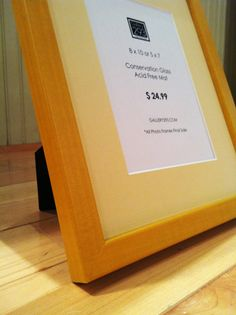 8 x 10 Golden Yellow Frame with 5 x 7 Soft Yellow by Gallery293, $24.99