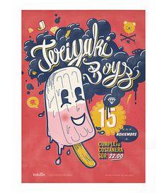 Teryiaki Boyz by Emilia Molina Carranza, via Behance