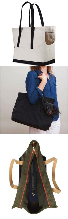 I don't know about you, but I'm so sick of all those ugly pet carriers! This canvas bag looks just like a brand name bag, except that it's comfy your your pet too! | Made on Hatch.co by independent makers & designers