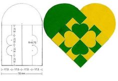Shamrock Danish heart