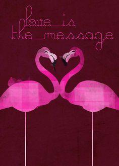 'Flamingos' by marcorecuero on artflakes.com as poster or art print $16.63