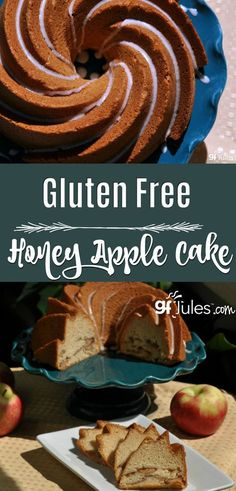 Whether you're looking for new ways to use apples or a truly delicious Rosh Hashanah recipe, this gluten-free Honey Apple Cake will make everyone happy! https://www.pinterest.com/pin/17310779802461198/