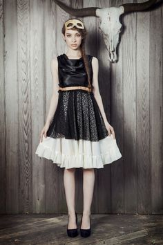 Satin and Lace Party Dress by kellylynne on Etsy #nye what to wear
