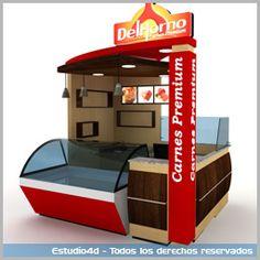 Islas para centro comercial - modulos comerciales - Estudio4d - Bogotá; Colombia