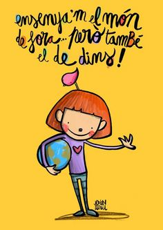 Joan Turu. Mejor con una sonrisa Temples, Teaching Quotes, Turu, Cute Doodles, Forest School, Teachers' Day, Baby Education, Great Words, Best Quotes