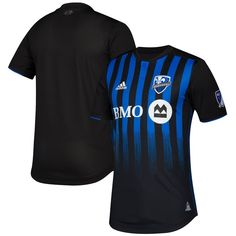 Montreal+Impact+MLS+2019-2020+HOME+Jersey+–+Black/BLUE #newyork #socal #lajolla #photography #miami #lasvegas #music #art #sd #chicago #usa #travel #instagood #texas #beach #fitness #la #dog Manchester United, Adidas Logo, Montreal, Football Outfits, Football Clothing, Nfl, Champions League, Baseball, Sport