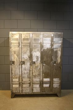 Love these...we've found a series of original industrial vintage French lockers (3,4,5 doors) in a warehouse in the North of France from the 1950s. After some major renovation they look just amazing..brushed and polished steel...60 year old elegant beauties!