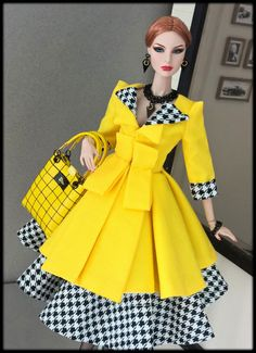 OOAK Fashions for Silkstone / Fashion Royalty/ Vintage barbie / Poppy Parker