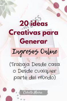 ¿Quieres saber cómo puedes ganar dinero desde casa? #dinero #chicas #creatividad #ideas #tips #negocios Win Money, Blogging For Beginners, How To Start A Blog, Digital Marketing, Told You So, About Me Blog, Tumblr, Tips, Ideas Creativas