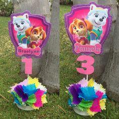 ellas first birthday Paw Patrol Birthday Decorations, Paw Patrol Birthday Girl, Girl Birthday, Sky Paw Patrol, Birthday Party At Park, Second Birthday Ideas, Candy Crafts, Christmas Mason Jars, Alice