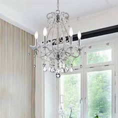 Diy crystal chandelier easy tutorial chandeliers pinterest crystal and iron five light chandelier aloadofball Image collections