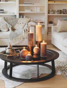 Candles, sofa & tea time. Do not disturb, please! :)