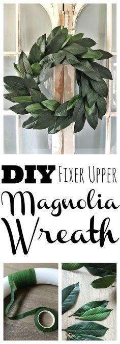 DIY Fixer Upper Magnolia Wreath