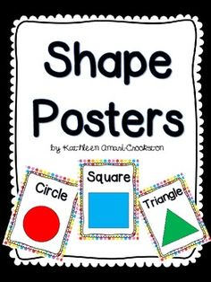 Here's a set of posters for 2D shapes.