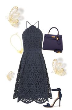 A fashion look from August 2016 featuring high neck cocktail dress, stiletto heel sandals and multi colored handbags. Browse and shop related looks. Mom Outfits, Dressy Outfits, Chic Outfits, Fashion Outfits, Hippie Chic, Formal Casual, Special Dresses, Feminine Dress, Business Dresses
