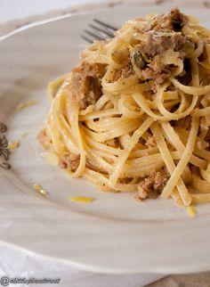 Gli spaghetti al tonno di mio fratello sono davvero buonissimi! Vi va di provarli?