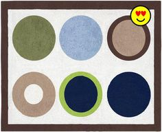 Add the finishing touch to your room with the #Designer Dot Floor rug by Sweet Jojo Designs. This hand tufted, 100% cotton yarn accent rug is made to coordinate ...