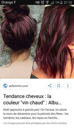 Color and style Hair Color Highlights, Hair Color Balayage, Cherry Coke Hair, Wine Hair, Bun Hairstyles, Haircuts, Hair Color And Cut, Hair Beauty, Beauty Stuff