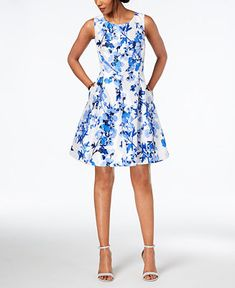 Main Image Dresses Fit Flare Dress Floral Prints