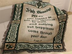 New God Jrish Blessing to You American Country Style 100% Cotton Sofa Throw with Tassels RusticTapestry Blanket Sofa Table Towel