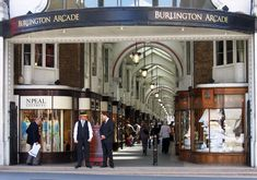 North entrance to the Burlington Arcade, with Beadle in attendance