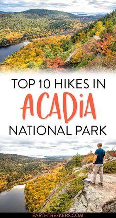 Best hikes in Acadia National Park. #acadia #nationalpark #hiking #besthikes