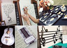 Libro de firmas bodas musicales. Post sobre bodas musicales en http://losdetallesdetuboda.com/blog