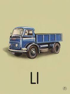 L is for lorry Art Print by Ladybird Books at King & McGaw #Letter…