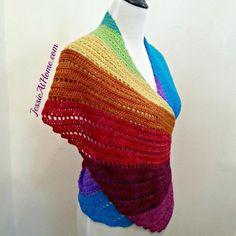 rainbow crochet wrap pattern