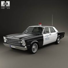 Ford Galaxie 500 Police 1966 3d model from humster3d.com. Price: $75  I'M THINKIN DRAG NET!!!!!