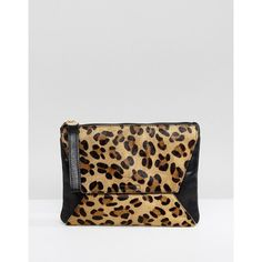 Oasis Leopard Printed Clutch Bag (£34) ❤ liked on Polyvore featuring bags, handbags, clutches, multi, leopard print clutches, animal print clutches, leopard clutches, leopard print handbag and leopard print purse