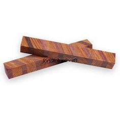 "Laminated Bubinga and Purpleheart Pen Blank 3/4"" x 5"" LAM3"