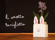 Foto: ...da fare con i bimbi... ...il brick in tetrapack diventa un vasetto...  http://www.quandofuoripiove.com/2014/04/il-vasetto-coniglietto-per-leducazione.html#more