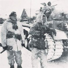 Panzergrenadiers and PzKpfw.III from SS-PzDiv Das Reich in February 1943 during Third battle of Kharkov