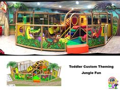 TODDLER-CUSTOM-THEMING---JUNGLE-FUN - Church-at-Rock-Creek - indoor playground for a children's ministry.  Designed, manufactured and installed by Internatinal Play Company - www.iplayco.com for more information. #weBUILDfun #Children'sMinistry #ChildrenMin