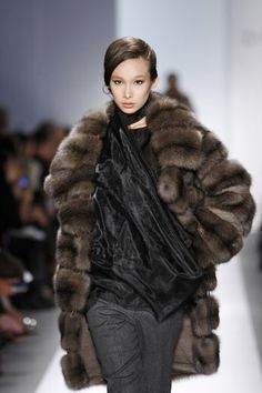 Russian Barguziin Sable Fur Coat