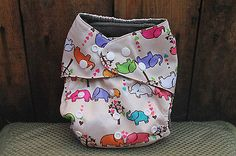 Charcoal Bamboo Cloth Diaper w/ Snap in insert