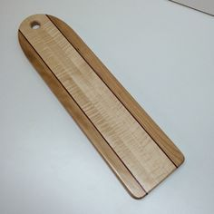 Curtly Maple Baguette Board with Purple Heart Accents by HartmanWoodworks on Etsy