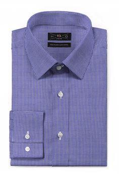 Purple Houndstooth 100% cotton Shirt - http://www.tailor4less.com/en-us/men/shirts/3334-purple-houndstooth-100-cotton-shirt